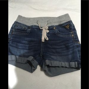 Girls jeans shorts by justice size 10